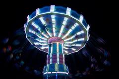 Hanging Chair Carousel. At night royalty free stock image