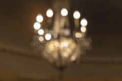 Hanging Chandelier Blurred Background Royalty Free Stock Images