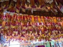 Hanging Chinese paper lantern Stock Images