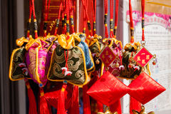 Hanging Chinese traditional Sachets Royalty Free Stock Images