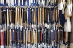 Hanging chinese writing brush Stock Photo