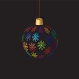 Hanging christmas ball Stock Photo