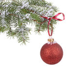 Hanging Christmas Ball Royalty Free Stock Image