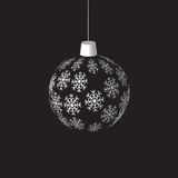 Hanging christmas ball Stock Images