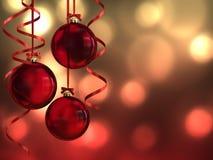 Hanging christmas balls Stock Images