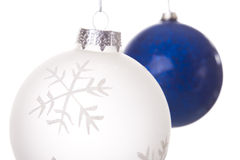 Hanging christmas balls Stock Photography