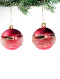 Hanging Christmas balls Royalty Free Stock Photos