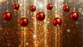 Hanging Christmas balls on the background bokeh. Vector art illustration Royalty Free Stock Photo