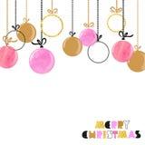 Hanging Christmas balls. Stock Image