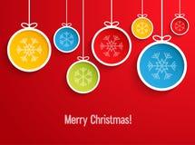 Hanging Christmas balls. Royalty Free Stock Image