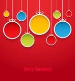 Hanging Christmas balls. Stock Photos