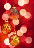 Hanging Christmas balls. Vector illustration Royalty Free Stock Images
