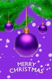 Hanging Christmas Balls With Greetings 3d Rendering Royalty Free Stock Photography