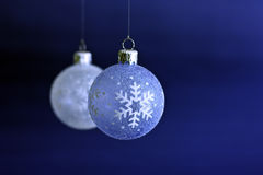 Hanging Christmas Baubles Royalty Free Stock Photo