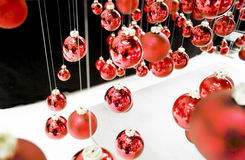 Hanging christmas baubles Royalty Free Stock Image