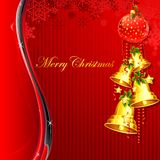 Hanging Christmas Bell Stock Image