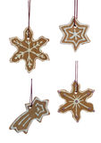 Hanging Christmas Cookies Snowflakes Royalty Free Stock Image