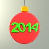 Hanging Christmas decoration Stock Photos