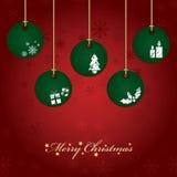 Hanging christmas decorations Stock Image