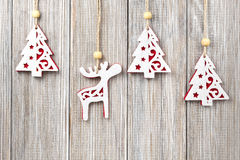 Hanging Christmas decorations Stock Images