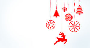 Hanging christmas decorations with copy space Royalty Free Stock Photography