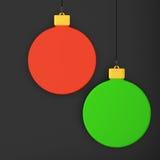 Hanging Christmas decorations Stock Photo
