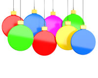 Hanging Christmas decorations Royalty Free Stock Photo