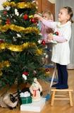 Hanging christmas decorations Stock Photos