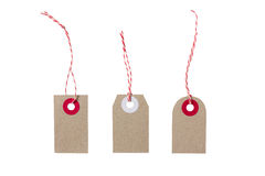 Hanging christmas gift tags Royalty Free Stock Photos