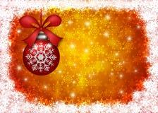 Hanging Christmas Ornament Snowflakes Border Stock Photos