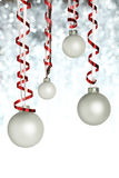 Hanging Christmas ornaments Stock Image