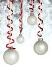 Hanging Christmas ornaments stock image