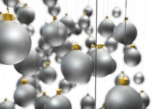 Hanging christmas ornaments Stock Photos
