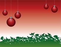 Hanging Christmas Ornaments  Royalty Free Stock Photos