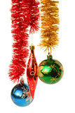 Hanging Christmas Ornaments Royalty Free Stock Images