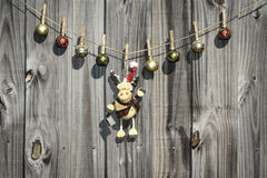 Hanging Christmas Ornaments Stock Images