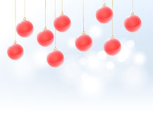 Hanging christmas ornaments Stock Photo