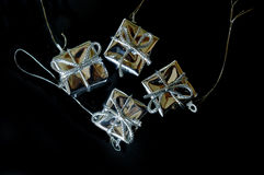 Hanging Christmas present tree decoration Royalty Free Stock Photography