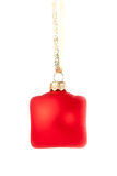 Hanging Christmas red bauble Royalty Free Stock Photography