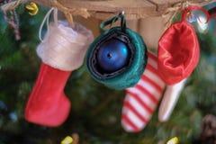 Hanging of Christmas sock royalty free stock image