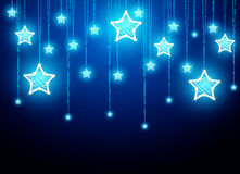 Hanging Christmas star decorations Royalty Free Stock Images