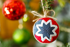 Hanging Christmas tree ornament Royalty Free Stock Image