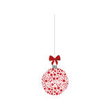 Hanging christmas wreath of glass with star decorations. Illustration royalty free illustration
