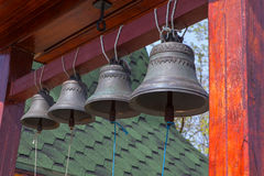 Hanging church bells Stock Photo