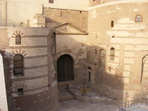 Old roman tower of Babylon in Coptic area of Cairo Royalty Free Stock Photos