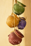 Hanging clay pots Stock Photography