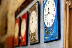 Free Hanging Clocks Mark The Time Of Life Stock Photo - 98073360