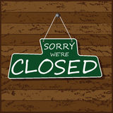 Hanging Closed Sign Royalty Free Stock Image