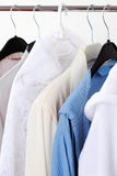 Hanging clothes Stock Images