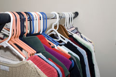 Hanging clothes Royalty Free Stock Photo